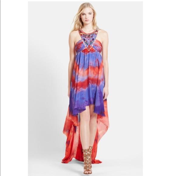 ca69204da80 Emilio Pucci Women s Silk Tie Dye Hi-Lo Dress